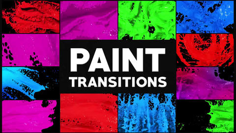 Paint Transitions After Effects Template