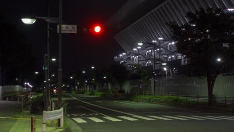 Tokyo Aquatics Center Night View003 Live Action