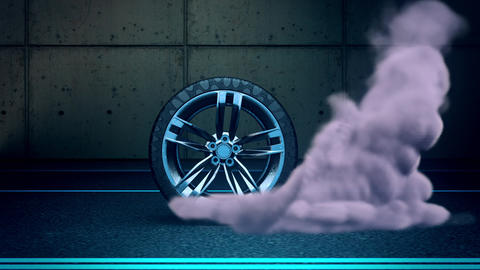 Burnout Wheel & Smoke Intro Logo Motion Graphic Background Videos animados