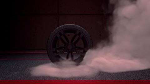 Burnout Wheel & Smoke Intro Logo Motion Graphic Background Animation