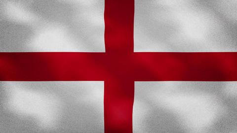 England dense flag fabric wavers, background loop Animation