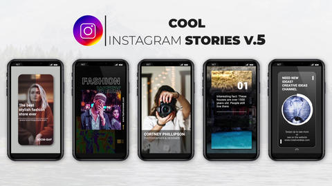 Cool Instagram Stories v 5 After Effects Template