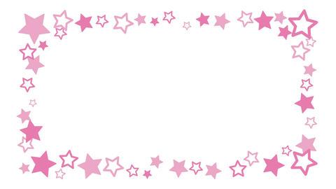 キュートな星のアニメーションフレーム CG動画