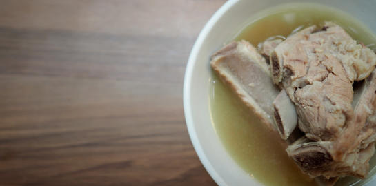 Bah Kut Teh pork ribs or pork bone soup, this menu is very popular and most famous in Singapore and フォト