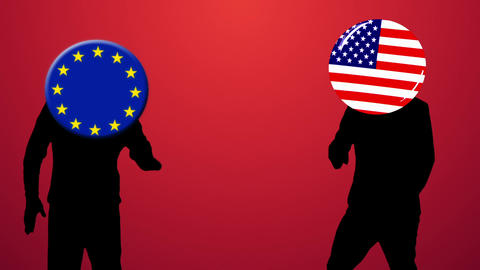 EU and America dancing Videos animados