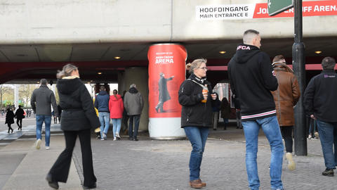 Johan Cruijff On A Pillar At The Johan Cruijff Arena Amsterdam The Netherlands 2020 ライブ動画