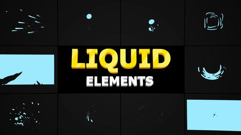 Abstract Liquid Shapes Motion Graphics Template