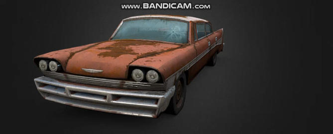 1959 1958 american old chrysler Modelo 3D