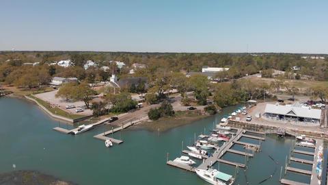 Georgetown panoramic aerial view in spring season, South Carolina ライブ動画