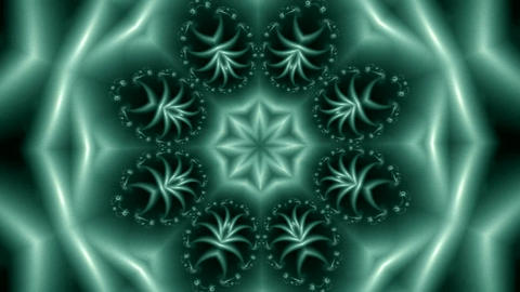 transfusion of various abstract fractal ornaments Animation