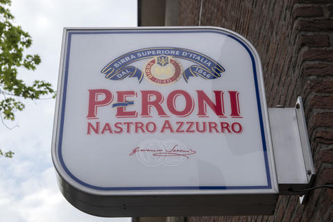 Billboard Peroni Nastro Azzurro At Amsterdam THe Netherlands 14-6-2020 Photo