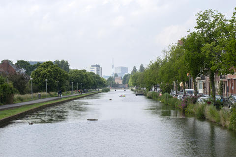 Transvaalkade Canal At Amsterdam The Netherlands 12-6-2020 フォト
