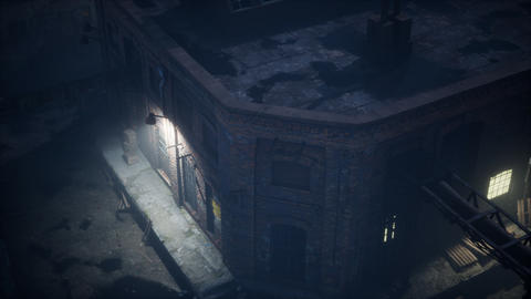 Aerial view of Old factory GIF