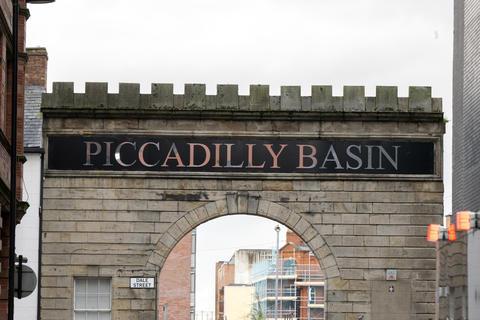 Piccadilly Basin Entranceway At Manchester England 8-12-2019 フォト