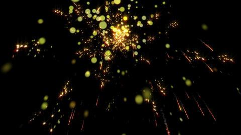 踊る花火のキラキラパーティクル1 CG動画
