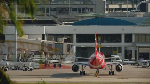 AirAsia Airbus A320 taxiing GIF
