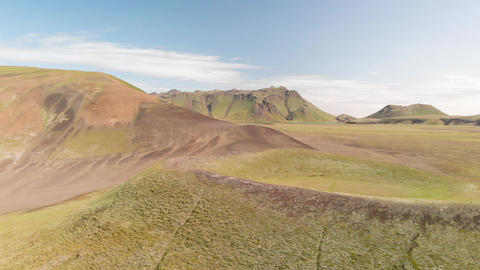Amazing landscape of Landmannalaugar magnificent highlands in summer season Live Action