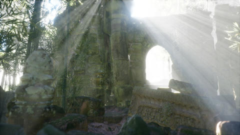 Ruins of famous Temple in cambodian Angkor Wat area GIF