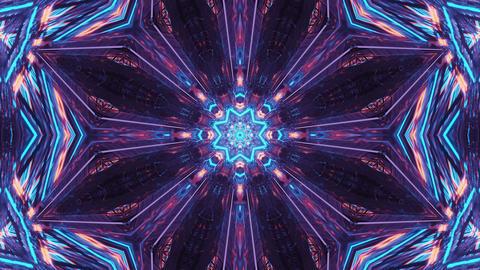 Interstellar Cyber Portal with Gleaming Light 3d rendering vj loop Animation
