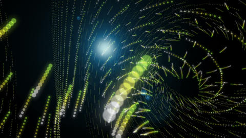 Futuristic eco video animation with particle stripe object and light in motion, loop HD CG動画