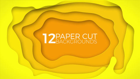 12 Paper Cut Backgrounds After Effects Template