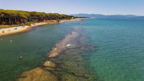 Amazing aerial view of Tuscany coastline, Italy from the drone GIF