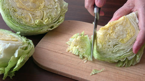 Iceberg lettuce fresh salad leaves GIF