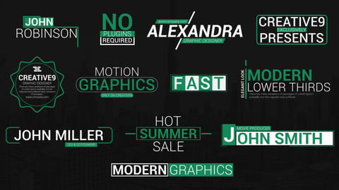 Modern Title Animations After Effects Template