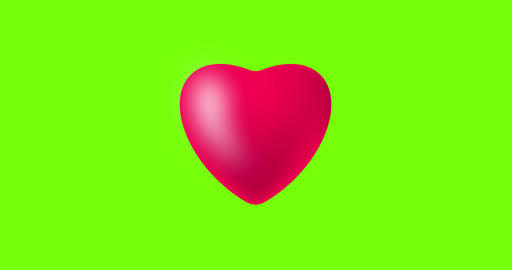Heart beat animation on green background Live Action