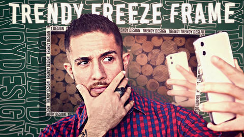 Trendy Freeze Frame Premiere Pro Template