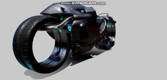 Scifi motorcycle 3D Model