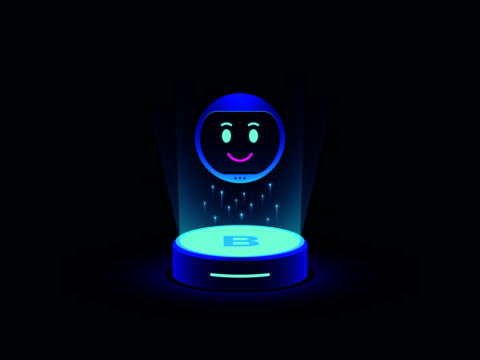 Smart chat bot, virtual voice assistant. Mobile chatbot with function of Machine learning, Smart ベクター