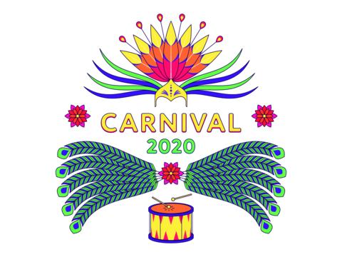 Holiday poster Carnival 2020. Vector illustration of festival and carnival in Brazil Vector