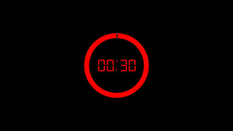 30 Sec Neon Timer Countdown with Circle Animation