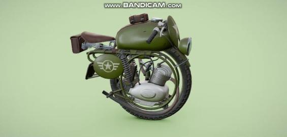 USA Military monobike 3D Model