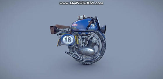 Alpine monobike 3D Model