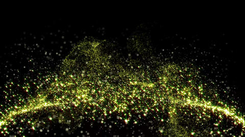 Soaring a gold and white glittering particle Videos animados
