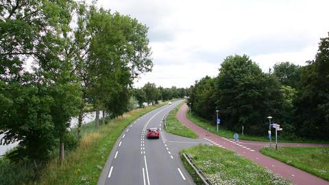 Cars Speeding At The Provincialeweg Straat At Diemen The Netherlands 20-7-2020 Acción en vivo