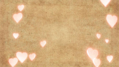 Love hearts background CG動画