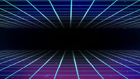 Digital grid illusion motion graphics Animation