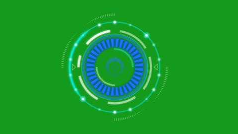 Digital processing motion graphics with green screen background Animation