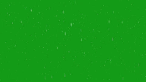 Rainfall motion graphics with green screen background Animation