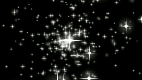 Shining stars motion graphics with night background Videos animados