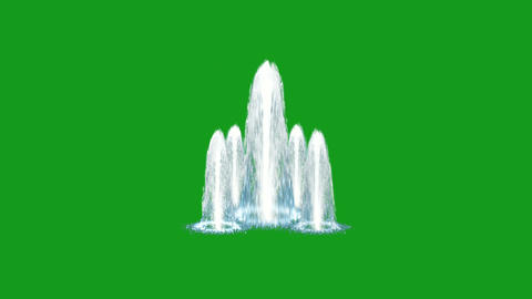 Water fountain motion graphics with green screen background Animation