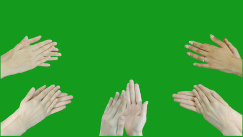 Clapping hands motion graphics with green screen background CG動画