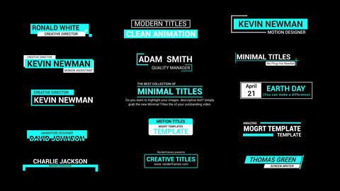 Minimal titles 2 0 Motion Graphics Template