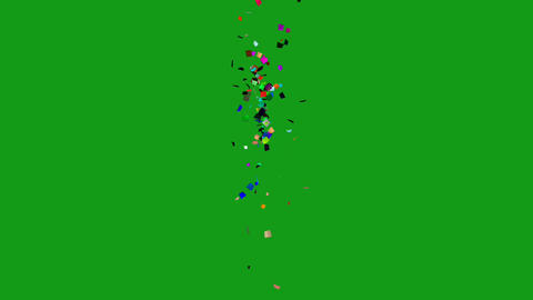 Confetti particles motion graphics with green screen background Videos animados