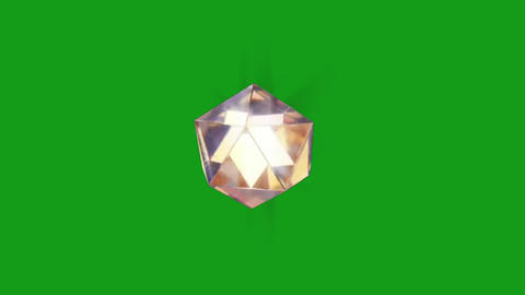 Rotating diamond motion graphics with green screen background Animation