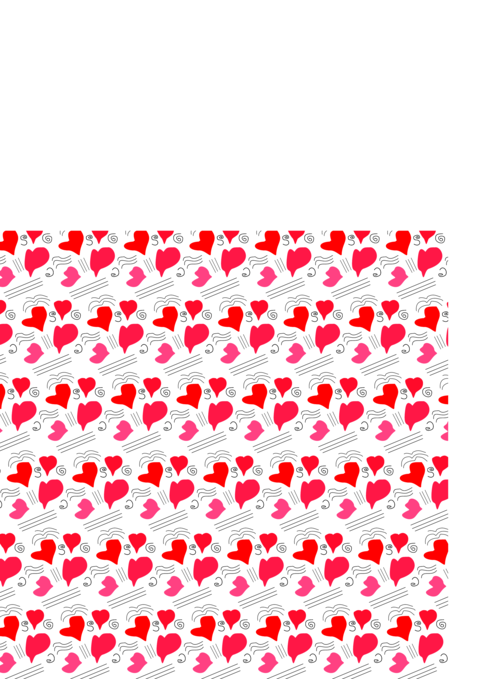 Heart Read drawing background Vector