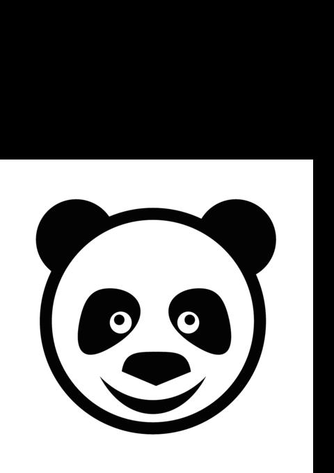 Cute Panda Face Logo Vector